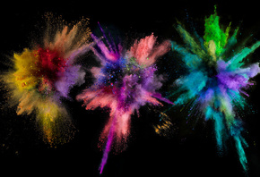 Apple Wallpaper, Color Boom, Colored dust, Цветная пыль, Взрыв
