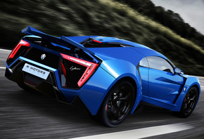 Lykan Hypersport, W Motors, supercar, blue, car, суперкар, race, 4K, UHD