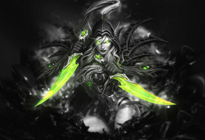 Valeera Sanguinar, Black and White, by, SpiritAJ Watch, Fan Art