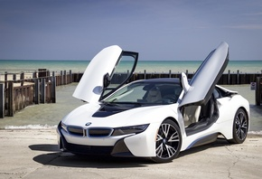 BMW i8, Sports car, sports car, compartment, berth, sea