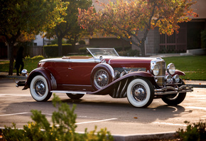 1929, откидной верх, Convertible, Coupe, купе, дюсенберг, Duesenberg