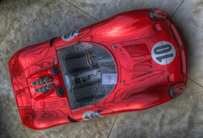hdr, bizzarini, red, supercar, sportcar