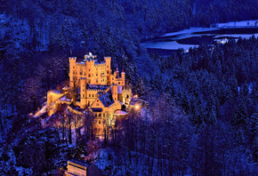 Hohenschwangau Castle, Bavaria, Germany, Замок Хоэншвангау, Бавария, Герман ...