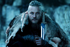 Рагнар, Викинги, Сериал, Мечь, Vikings, Ragnar, TV