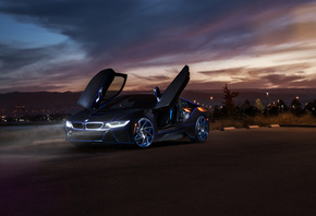 BMW, i8, Aristo, Collection, SS, Customs, Car, Front, Doors