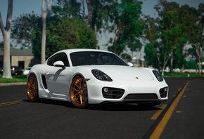 Porsche, Cayman, on, BLK, Wheels