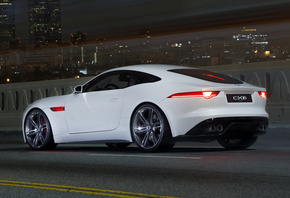 Jaguar, C-X16, Concept, white, car