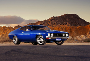 muscle car, autoboy, ford falcon, gt, ford