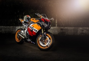 Repsol, CBR1000RR, Хонда, велосипед, мотоцикл, Supersport, шлем, Repsol, Honda