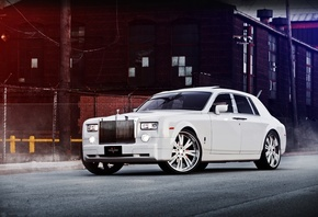 rolls royce, phantom, front view, white, phantom, white, rolls-royce