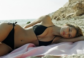 Bar Refaeli, model, bikini, beach, модель, бикини, пляж