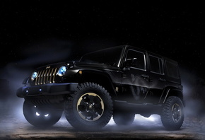 Jeep, Черный, Wrangler, Dragon, design, 2012