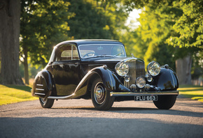 Bentley, Ретро, 1938, Sports, Coupe, Park Ward, Черный, Металлик