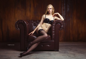 Yulia Vasilieva, women, model, straight hair, long hair, hips, sitting, ass ...
