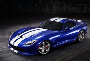2013, SRT, Viper, GTS, Launch, Синий, Полоски