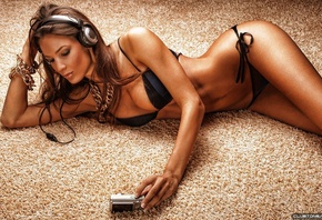 Dj headphones, models, music women, best, widescreen, background, desktop