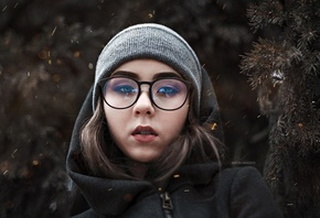 women, glasses, portrait, women with glasses, hoods, Fotoshi Toshi aka Anton Harisov, Elena Borisova