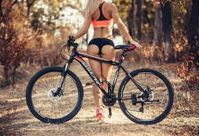 women, ass, blonde, sneakers, women with bikes, bicycle, sportswear, tanned ...
