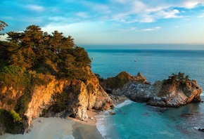 mcway водопад, big sur, джулия пфайфер бернс state park, mcway falls, big s ...