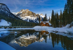 Banff National Park, Alberta, Canada, горы, река