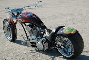 Bike chopper custom, мотоцикл, Аэрография