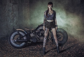 CHOPPER, motorbike, tuning, custom, bike, мотоцикл (901, аэрография