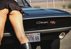 women, legs, people, charger, Charger RT, Dodge, black, American cars, muscle cars