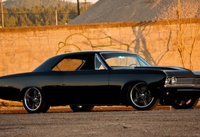 chevrolet, chevelle, ss, 1967, black, классика