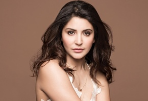 Anushka Sharma, face, girl, eyes, brunette, девушка, actress, smile, pretty ...