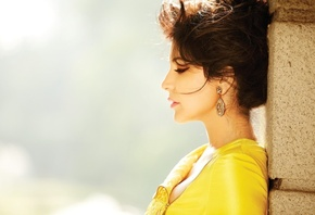 Anushka Sharma, face, girl, eyes, brunette, девушка, actress, pretty, hair, ...