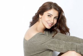 Anushka Sharma, face, girl, eyes, brunette, девушка, actress, smile, pretty, hair, sexy, актриса, celebrity, bollywood, pose, beauty, cute, индийский, model, indian, красавица, lips, beautiful
