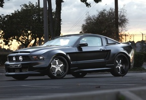 black, ford mustang, car, drives, tuning, road
