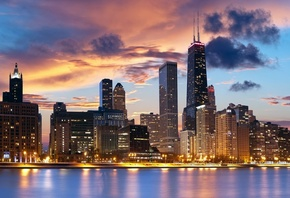 chicago, usa, illinois, the city, city