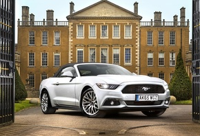 Ford, Mustang, GT, Convertible, white, car