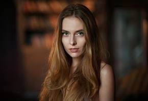 Amina Katinova, women, Maxim Maximov, face, portrait, depth of field