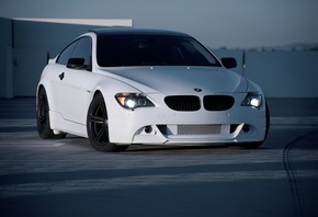 bmw, e63, bmw, white, roof, white, parking, m6, front
