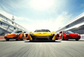 Машины, mclaren p1, mclaren mp4-12c, mixed, three, supercars, mclaren mp4-1 ...