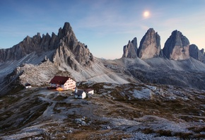 italy, mountains, house