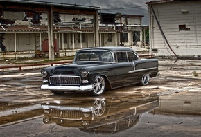 1955, air, bel, belair, chevrolet, custom