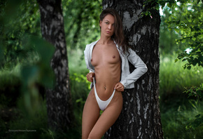 women, tanned, topless, Mihail Gerasimov, boobs, nipples, the gap, white pa ...