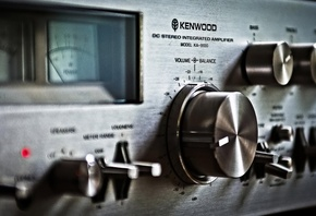 Kenwood KA-9100, background, макро, музыка