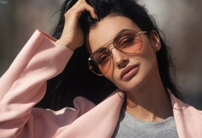women, Anna Sajarova, sunglasses, women with glasses, portrait