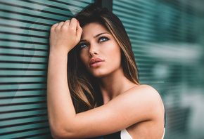 women, face, portrait, portrait, looking away, depth of field