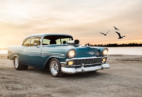 1956, chevrolet, bel air, sport, coupe