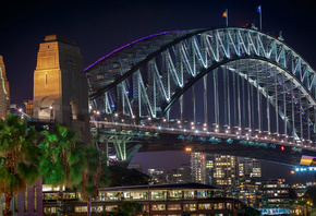 Australia, Sydney, Harbour Bridge, Австралия, город, Сидней, мост, Харбор-Б ...