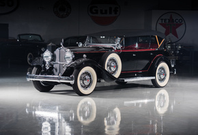 Packard, Deluxe Eight, Phaeton, Черный, Ретро, 1932