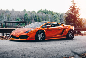 Lamborghini, Gallardo, orange