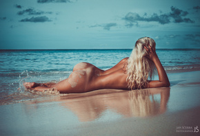 women, tanned, blonde, ass, back, sea, beach, nude, Tanlines, sand covered, ...
