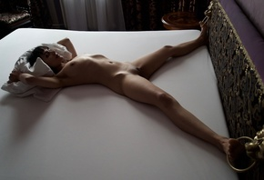 body, legs, bed, figure, chest, girl, pose