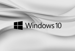 Windows 10, gray, logo, Минимализм